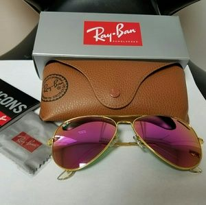 Pink Glass mirror sunglasses.